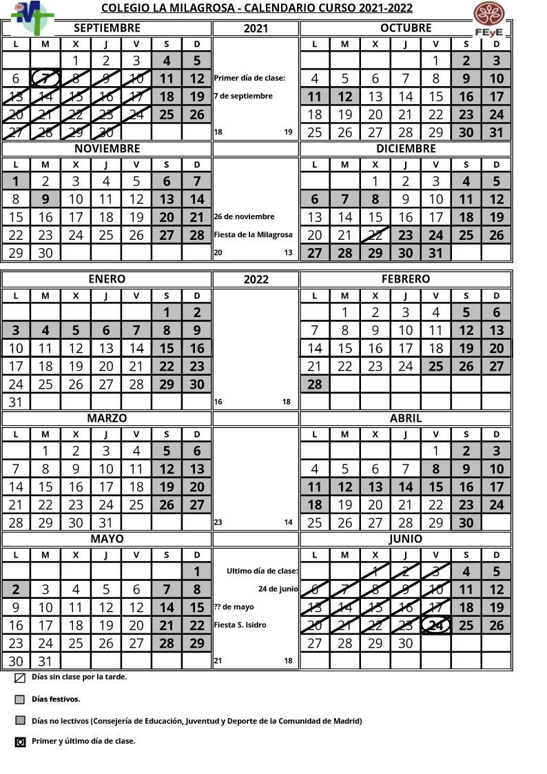 Calendario 2021-22